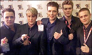 Boy-band Westlife won the first Top of the Pops awards