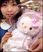 Shops have been stocking up on the popular Hello-Kitty doll in baby dress