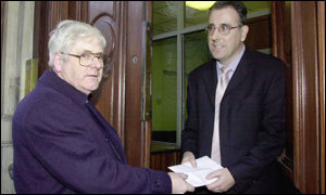 Campaign for justice: Michael Gallagher delivered a letter to Irish embassy last week