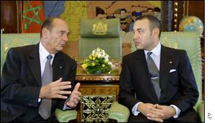 President Chirac and King Mohammed of Morocco