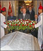 the tomb of Moroccan King Hassan II