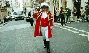 Town crier Peter Moore