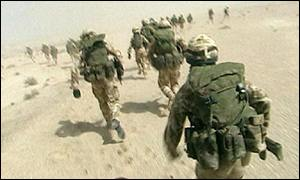 British troops training in Oman in 2001