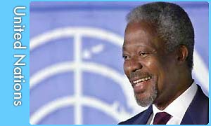 Kofi Annan, the Secretary-General of the UN