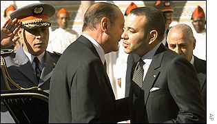 President Jacques Chirac and King Mohammed VI of Morocco