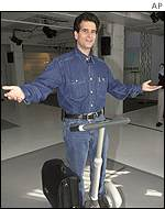 Dean Kamen on his scooter, AP