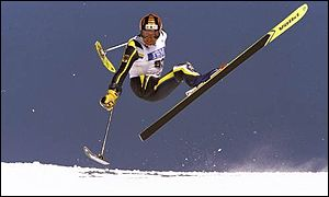 Alexander Spitz of Germany in action during the 1998 Winter Paralympics in Nagano