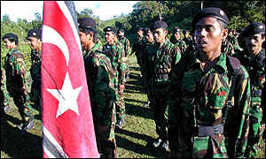 Free Aceh Movement (GAM) rebels said they held ceremonies at secret locations in the jungle.
