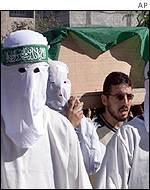Hamas supporters at a funeral