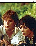 Sean Astin, left, and Elijah Wood
