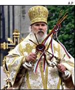 The head of the Russian Orthodox Church, Alexi II