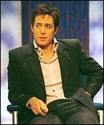 Hugh Grant has said he will not be the baby's godfather