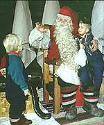 A Finnish Santa in his grotto