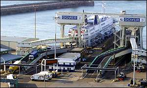 Ferry loading at Dover