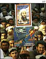A pro-Bin Laden demonstration in Pakistan
