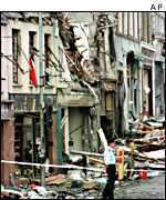 Aftermath of Omagh bomb