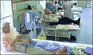 Patients on an NHS ward