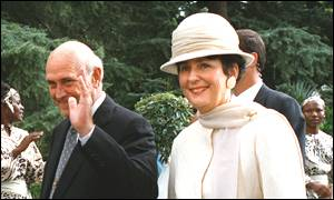 Marika and FW de Klerk in Pretoria