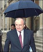 French Foreign Minister Hubert Vedrine