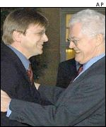 Belgian PM Guy Verhofstadt with Lionel Jospin
