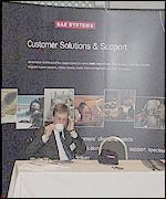 BAE Systems conference stand