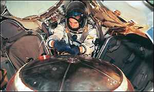 Mark Shuttleworth in Soyuz training