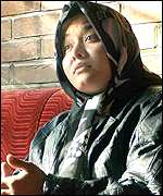Female student at Kabul University