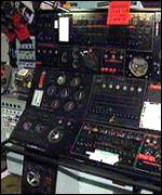 Control panel inside the submarine Courageous