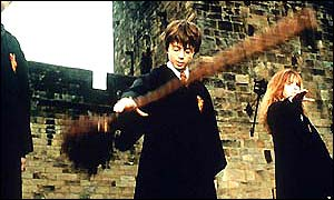 Harry Potter commands broomstick
