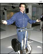 Dean Kamen with the Segway scooter