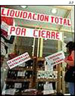 Argentina shop in liquidation