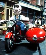 Wallace and Gromit were also in the top 10