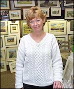 Gwen Price in her shop in the Yorkshire Dales