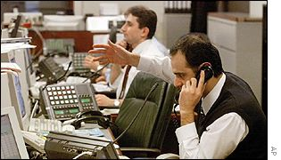 Traders at Troika Dialog, Moscow