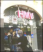 HMV in Piccadilly, London, BBC