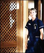 Tina Hobley plays ward sister Chrissie Williams