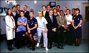 The cast of Holby City