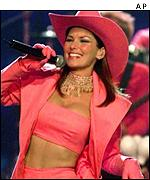 Shania Twain has appeared at the ceremony in the past