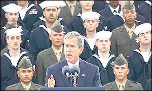 President Bush delivers his address
