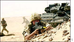 British troops on exercise