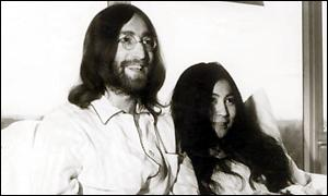 John Lennon and Yoko Ono in 1969