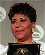 [ image: Aretha Franklin: 'Blown away' by the news]
