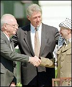 The Oslo accords were also signed in the presence of the US President