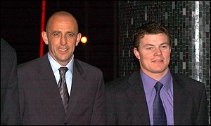 Liverpool's Gary McAllister and Lions and Ireland star Brian O'Driscoll