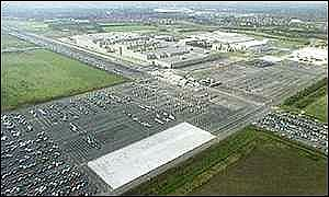 An aerial view of the Honda plant at Swindon