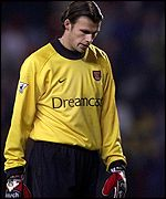 Arsenal goalkeeper Stuart Taylor