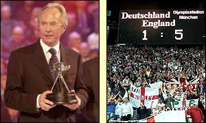 Sven Goran Eriksson thanked England players and supporters after collecting his award