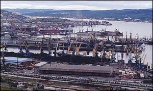 Docks in Murmansk