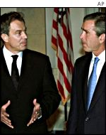 Tony Blair meets George Bush in Washington