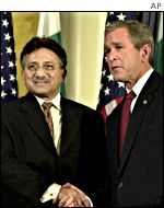 General Pervez Musharraf with President Bush